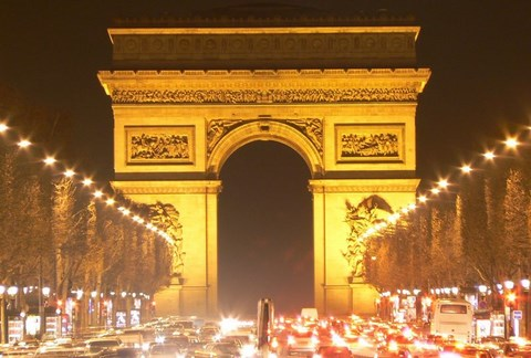 Paris, l'arc de triomphe - Paris-Ile de France
