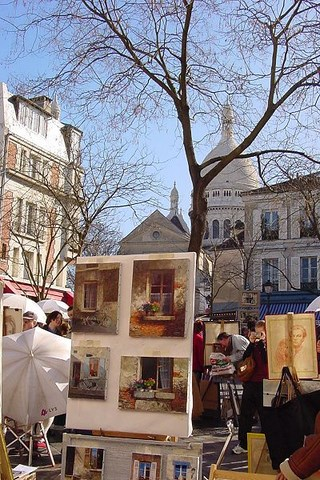 Paris, Montmartre, place du Teertre - Paris-Ile de France