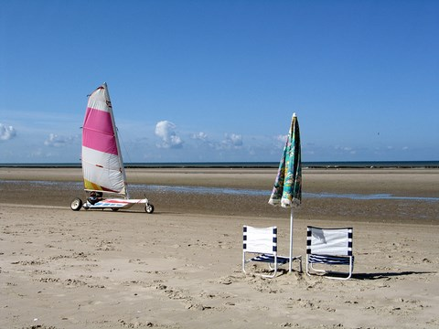 Quend plage, char à voile - Somme - Picardie